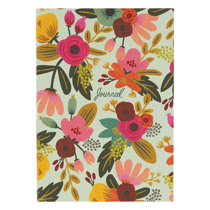 Lined Journal - Mint Floral