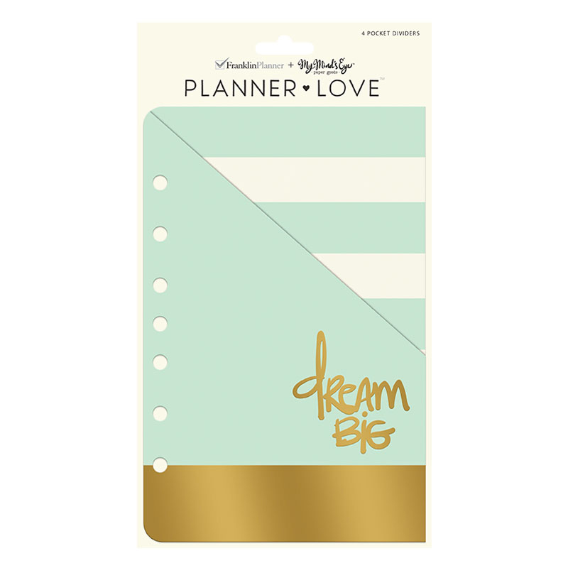 Classic Planner Love Pocket Dividers - Coral