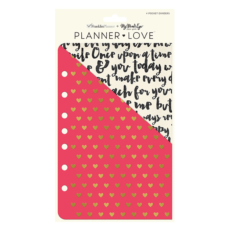 Classic Planner Love Pocket Dividers - My Story