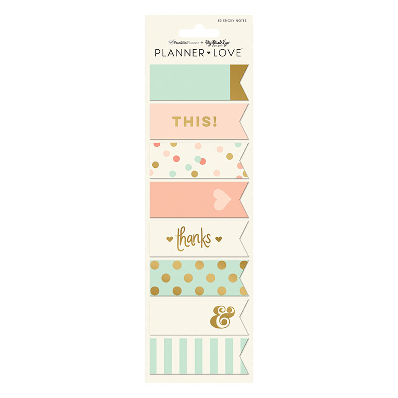 Planner Love Sticky Notes - Coral