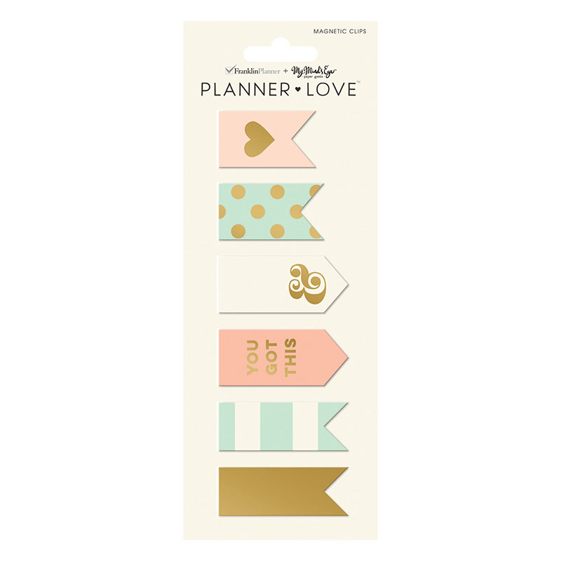 Planner Love Magnet Clips - Coral