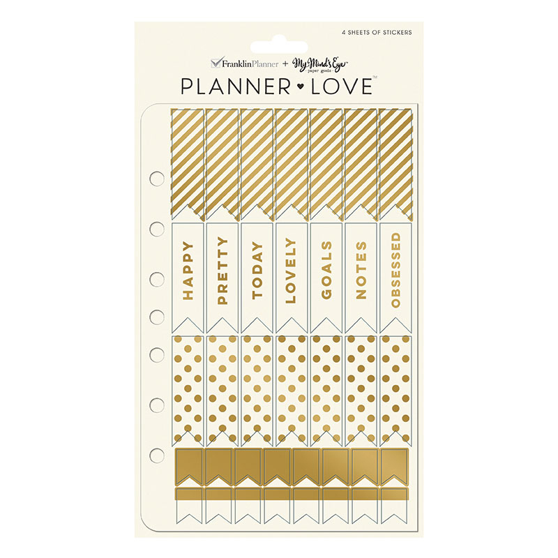 Planner Love Sticker Sheets - Gold