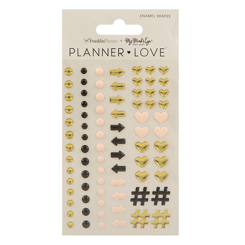 Planner Love Enamel Shapes - Gold