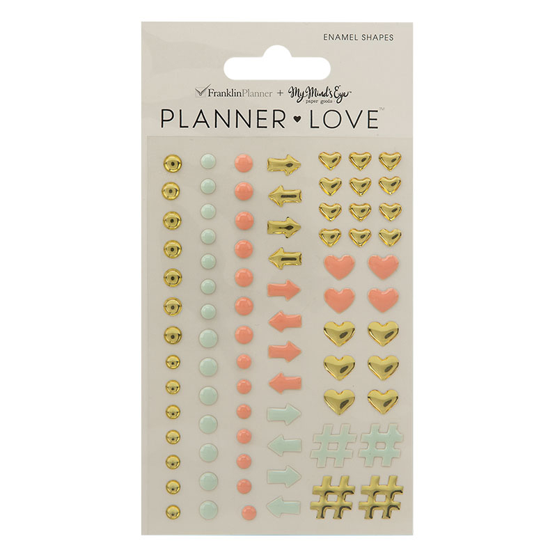 Planner Love Enamel Shapes - Coral