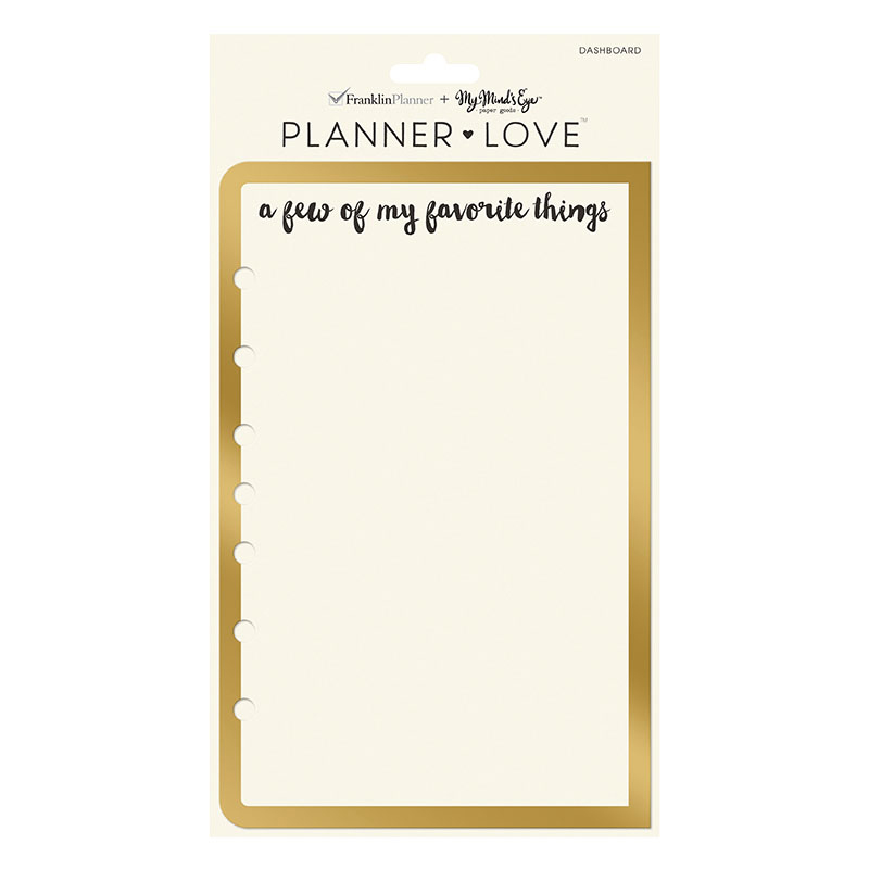 Planner Love Dashboard - Gold