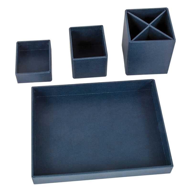 Lena Desktop Organizer - Dark Blue