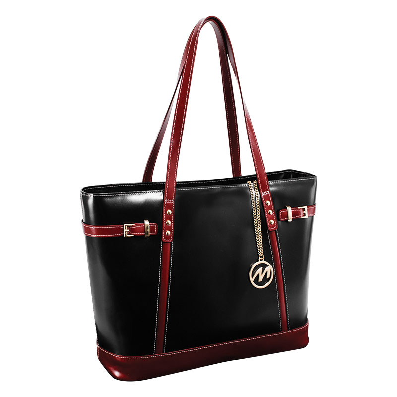 Serafina Leather Tote - Black