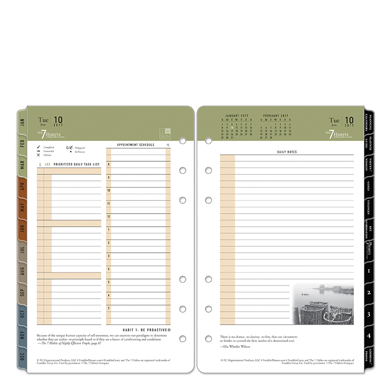 7 Habits Ring-bound Daily Planner - FranklinCovey