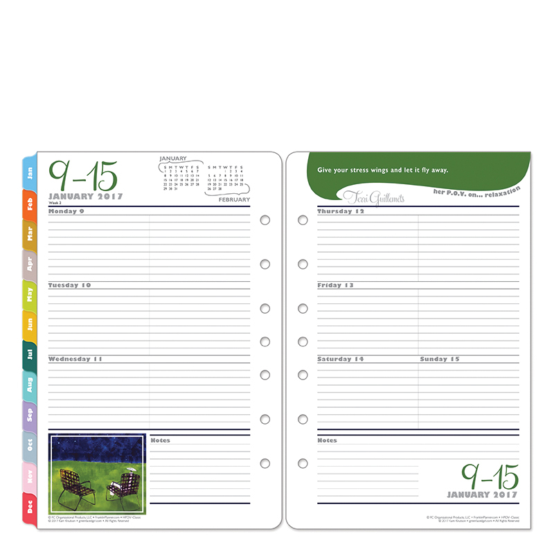 Her Point Of View Ring Bound Daily Planner