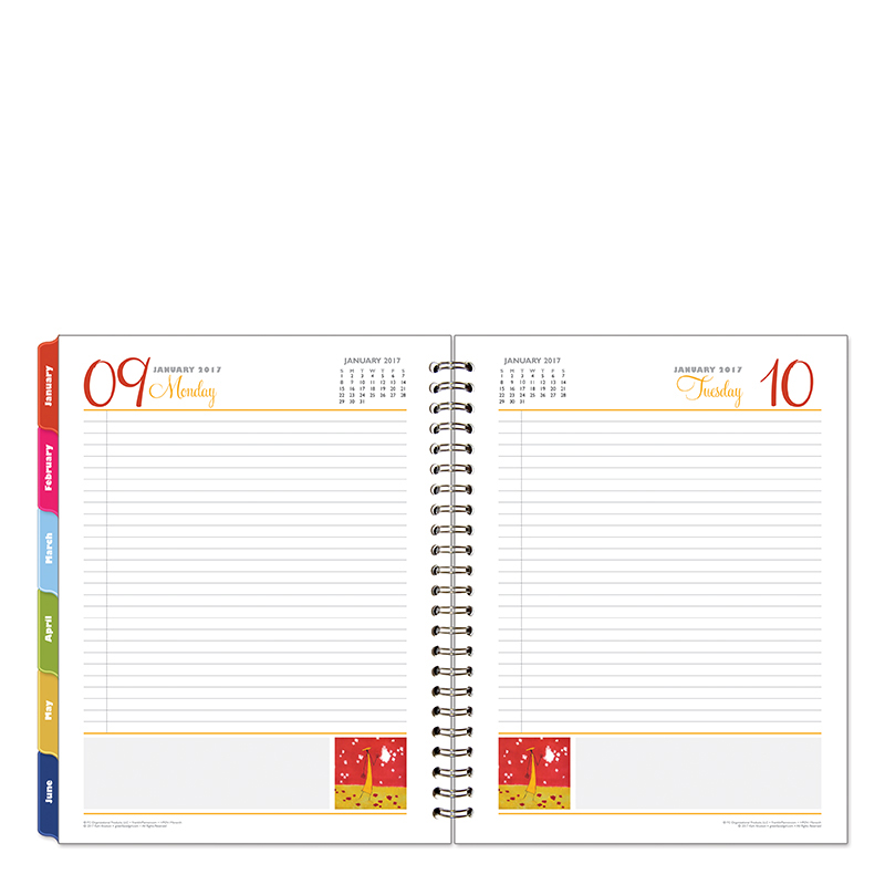 Monarch Her Point of View One-Page-Per-Day 6 Month Wire-bound Planner - Jan 2017 - Jun 2017