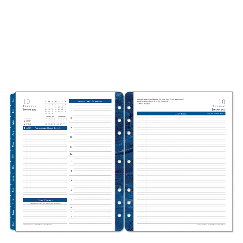 franklin covey planner templates - monticello daily ring bound planner franklincovey