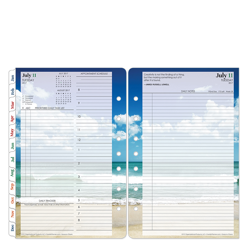seasons daily ring bound planner franklincovey