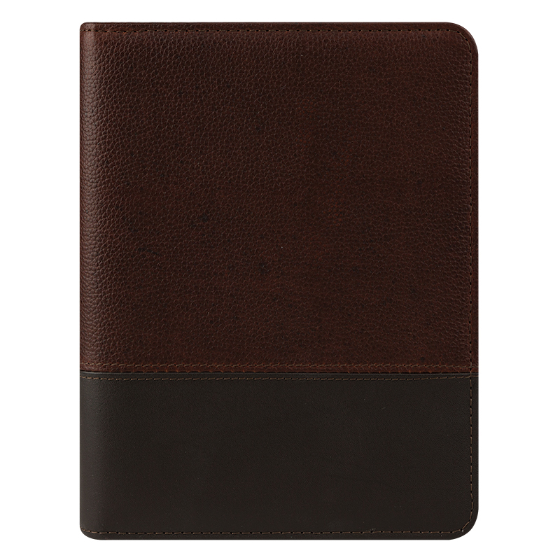 Classic Logan Leather Open Binder - Chocolate/Espresso