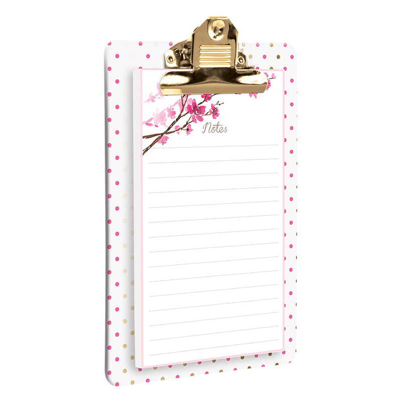 Clipboard with Notepad - Blossom