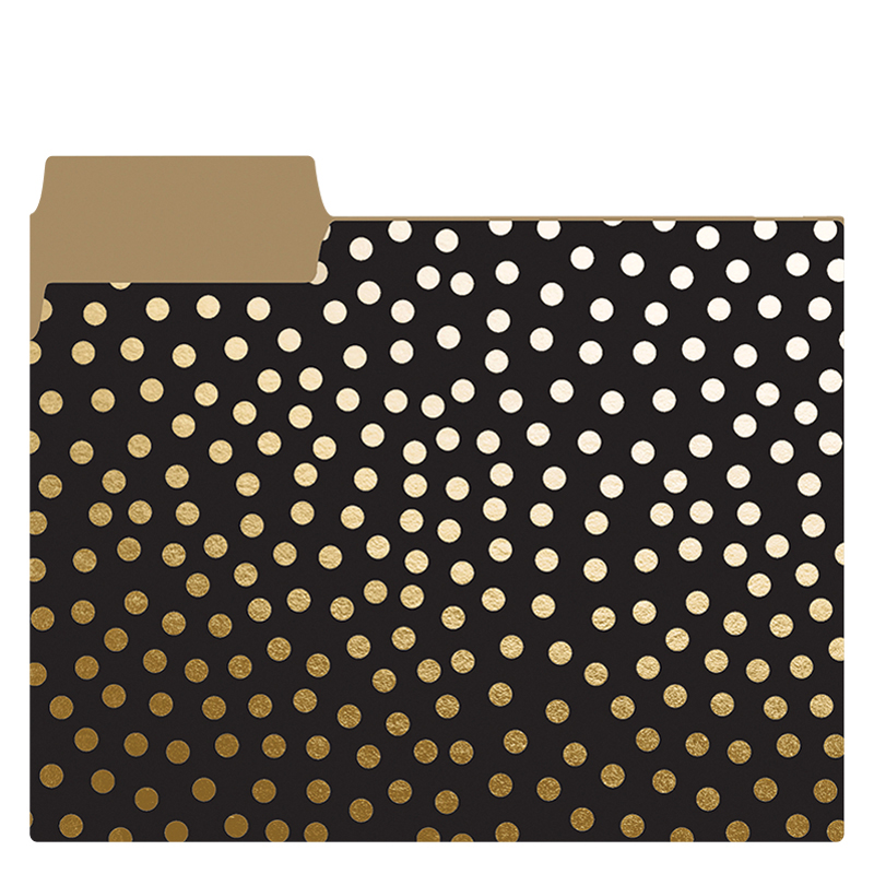 Folder Set  - Gold Dots