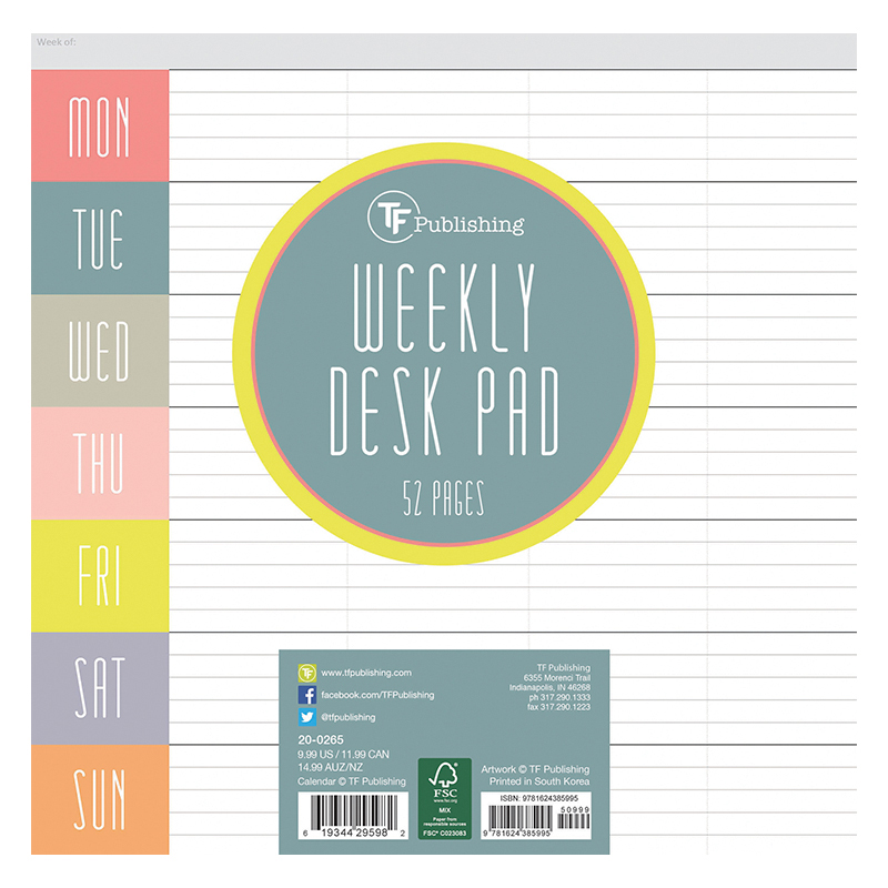 Glory Days Weekly Desk Pad Franklincovey