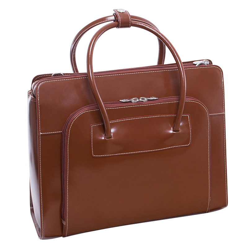 Lake Forest Leather Briefcase - Brown