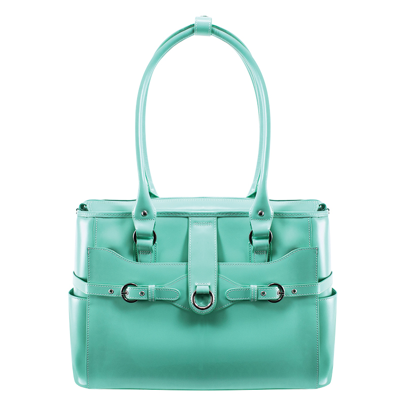 Willow Springs Leather Ladies Briefcase - Mint