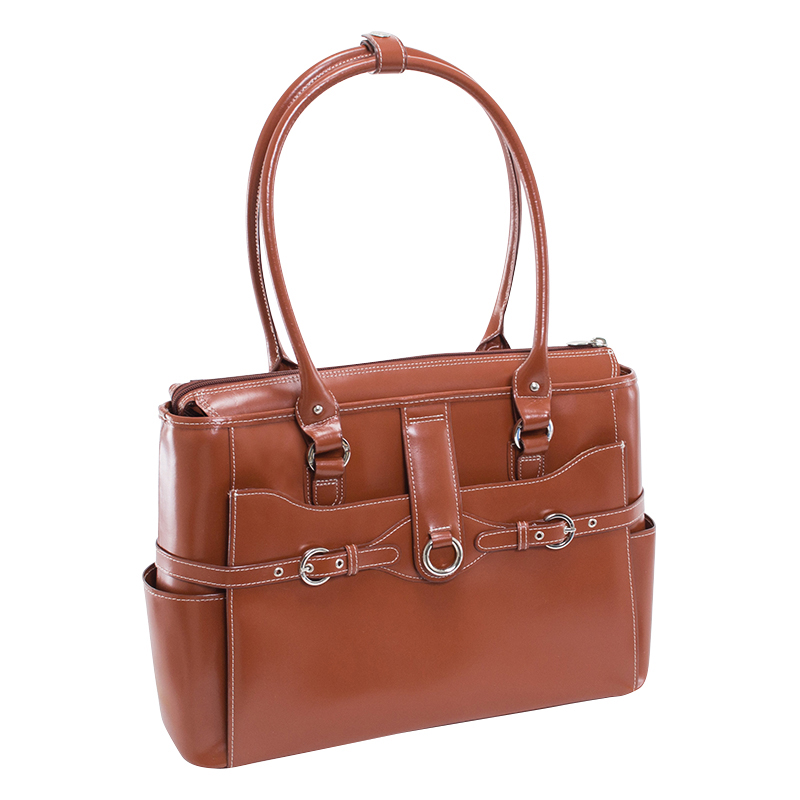 Willow Springs Leather Ladies Briefcase - Brown