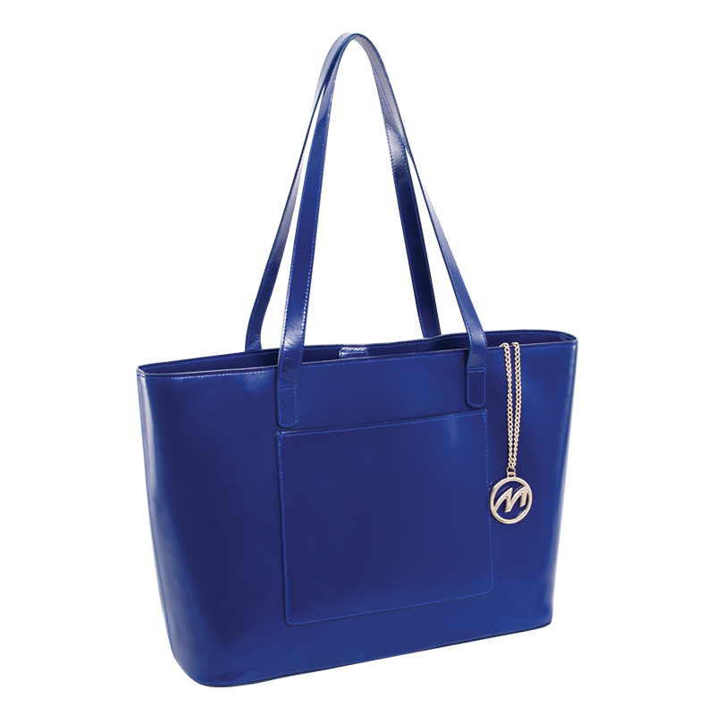 Alyson Leather Tote - Navy
