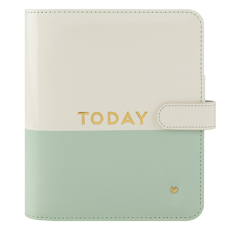 Compact Planner Love Simulated Leather Magnetic Strap Binder - Today
