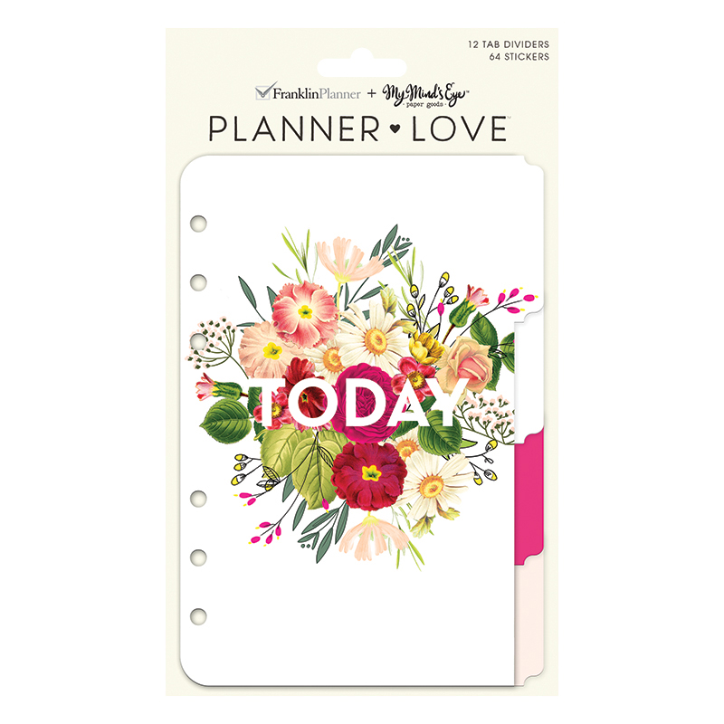 Compact Planner Love Tab Dividers - Botanicals