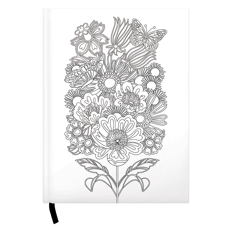 Coloring Journal - Floral