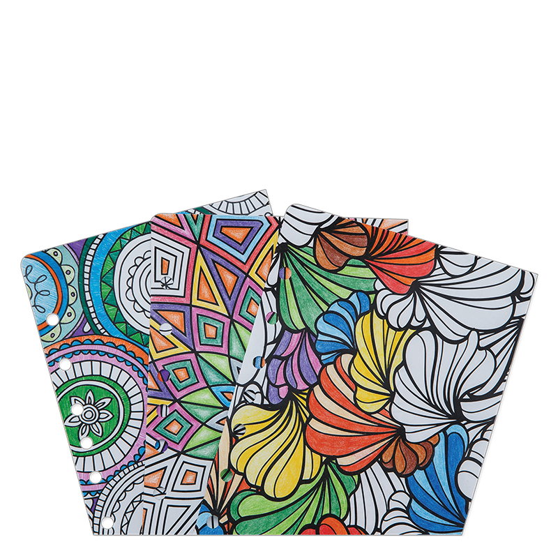 Classic Ring-bound Coloring Page Pack