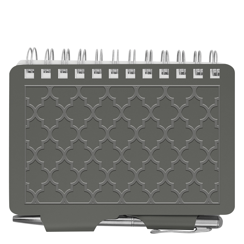 Password Book - Grey Quadrafoil