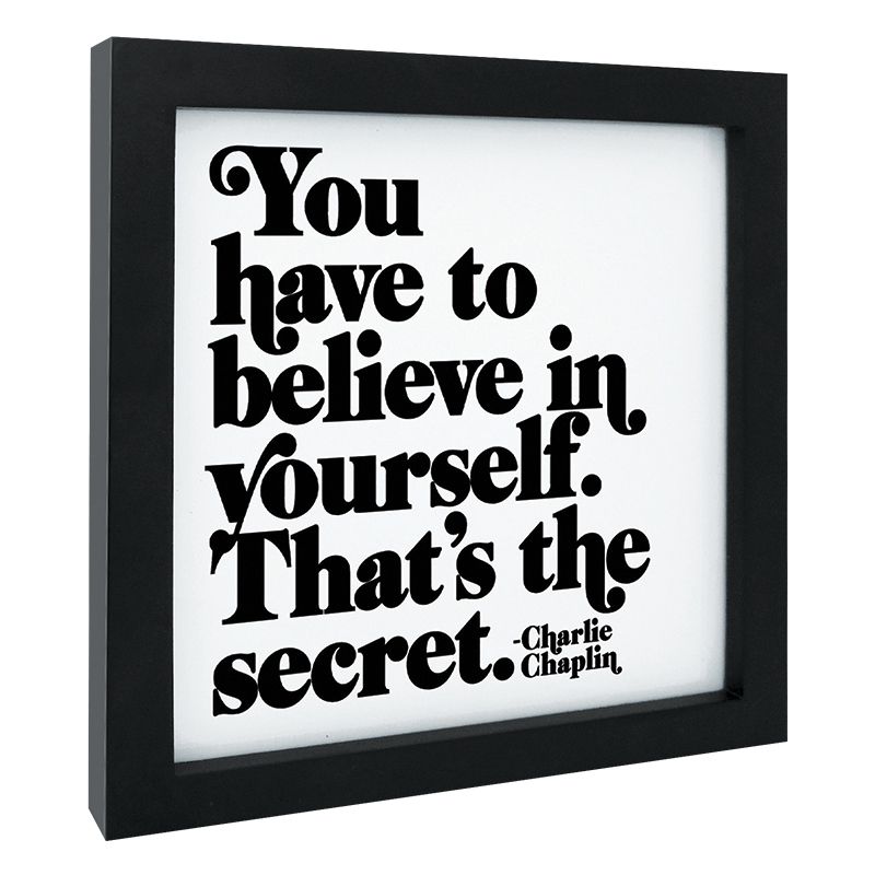 Quotable Framed Print Believe in Yourself - FranklinCovey
