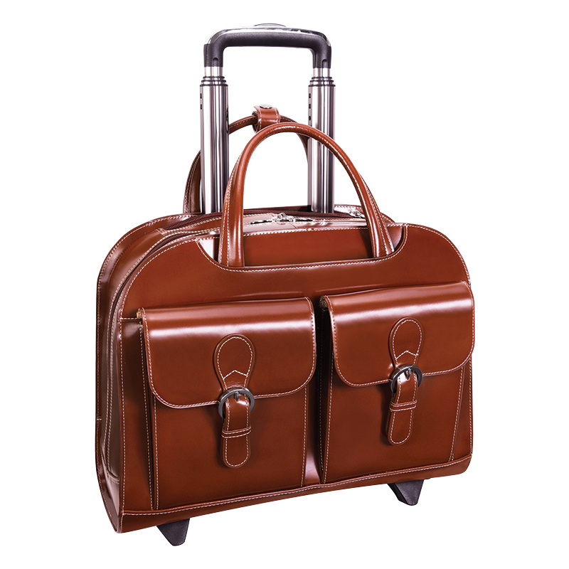 Davis Wheeled Ladies Laptop Case - Brown