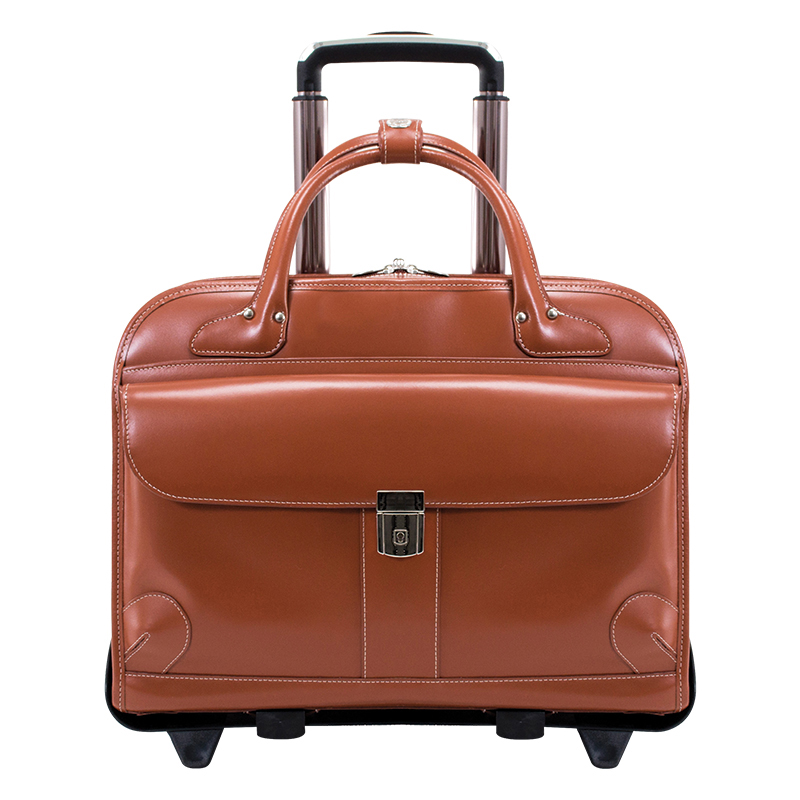 Lakewoodleather Fly-Through Wheeled Case - Brown