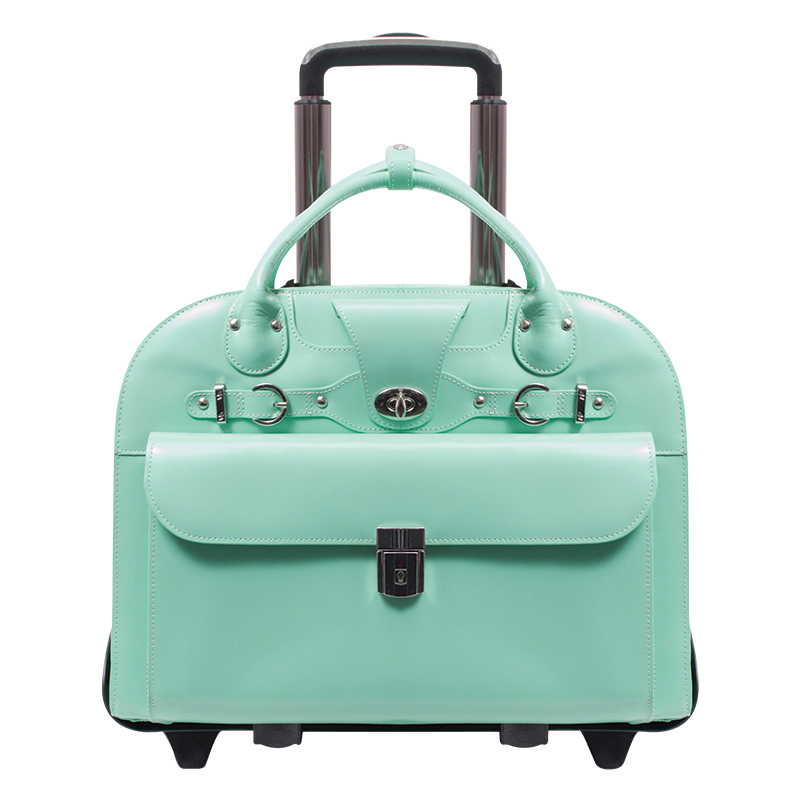 Roseville Leather Ladies' Briefcase - Mint