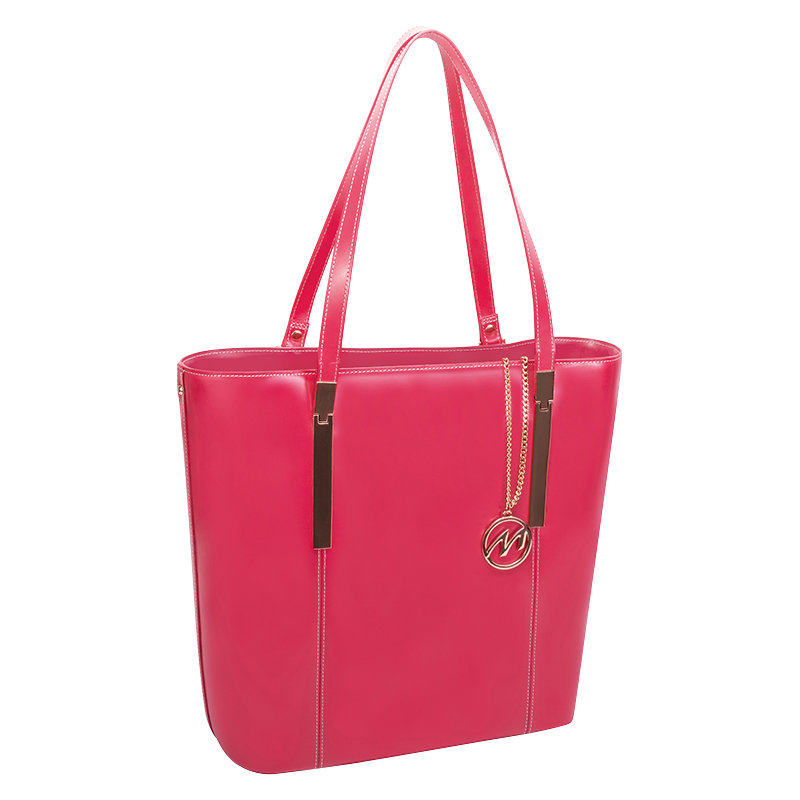 Cristina Leather Tote - Fuchsia