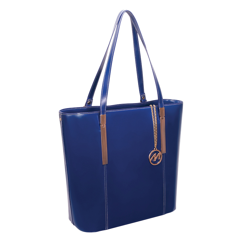 Cristina Leather Tote - Navy