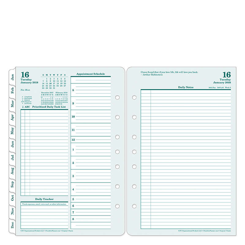 franklin covey templates pdf - original daily ring bound planner franklincovey