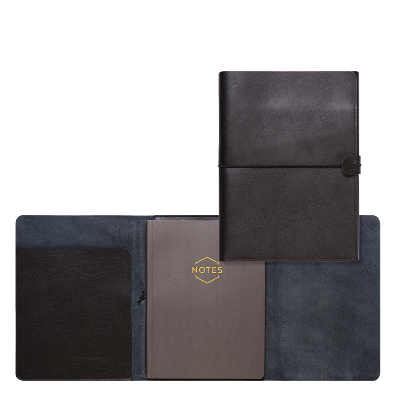Tri-fold Refillable Journal - Black