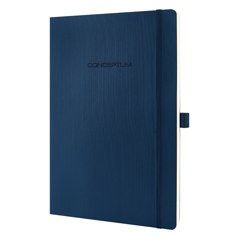 Softcover Lined A4 Journal - Blue