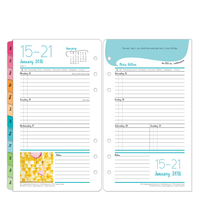 Pocket Her Point of View Weekly Ring-bound Planner - Jan 2018 - Dec 2018