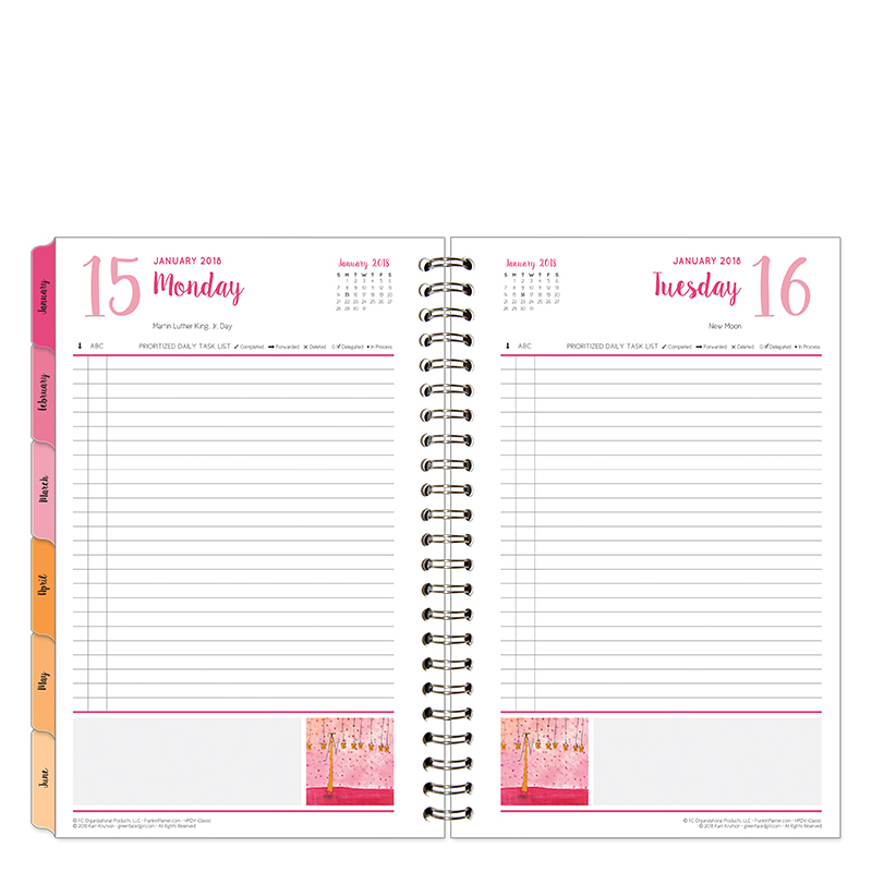 Classic Her Point of View One-Page-Per-Day 6 Month Wire-bound Planner - Jan 2018 - Jun 2018