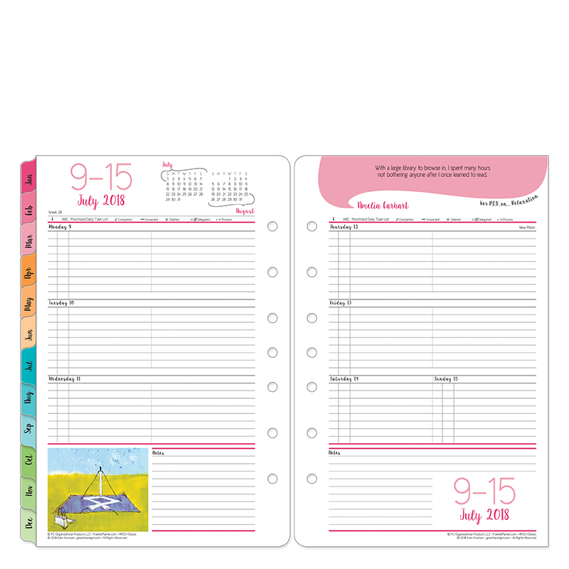 Her Point Of View Ring Bound Weekly Planner