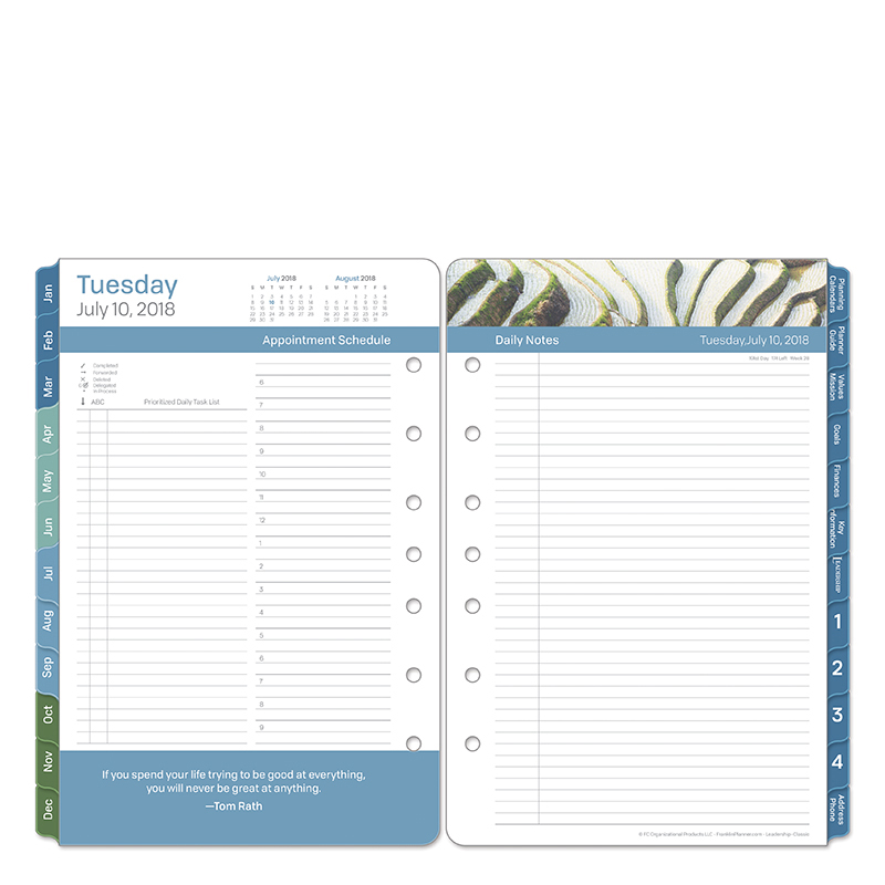 Classic Leadership Daily Ring-bound Planner - Jul 2018 - Jun 2019