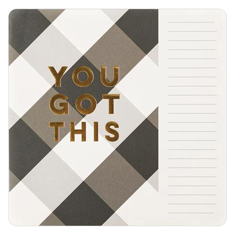 Paper-Love Plaid Mouse Pad/Notepad