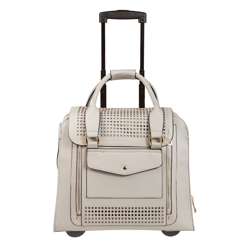 Zadie Collection Rolling Tote - Grey