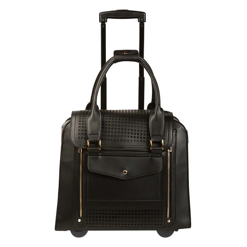 Zadie Collection Rolling Tote - Black