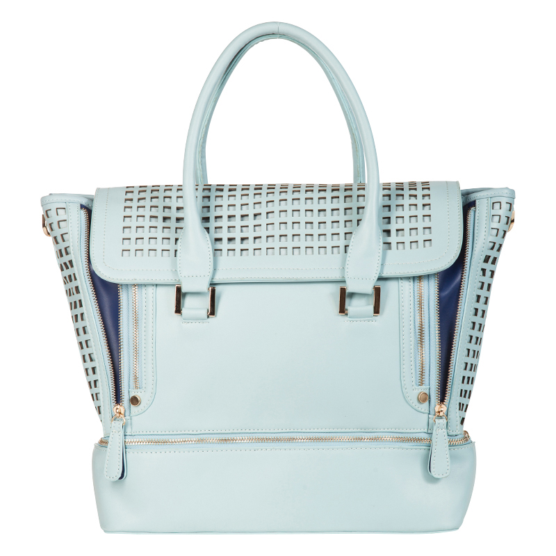 Zadie Collection Tote - Eggshell Blue