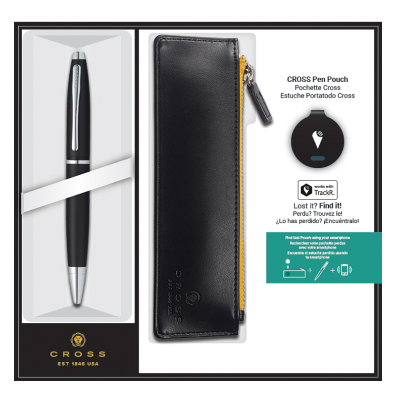 Calais Pen with Cross Pouch & TrackR Set - Satin Black