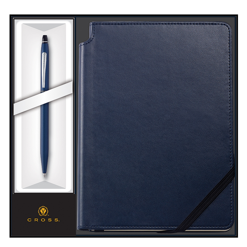 Click Pen Ballpoint Midnight Blue with Medium Journal - Blue