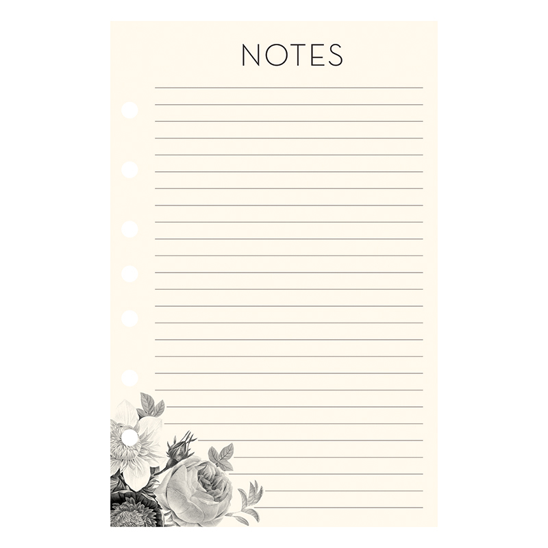 Classic Planner Love Lined Notepad - Blush Florals
