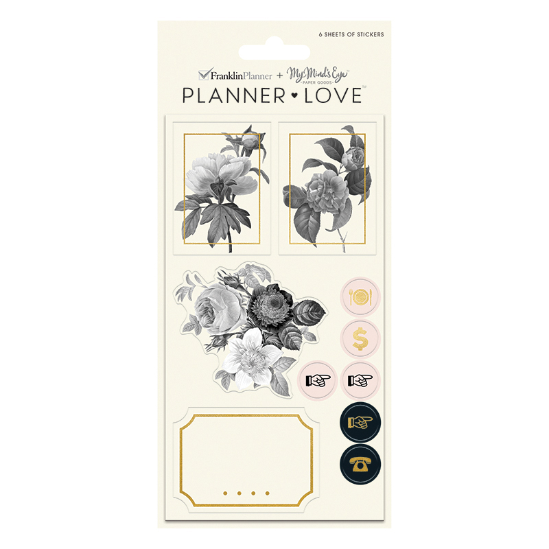 Planner Love Sticker Sheets - Blush Florals